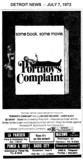 "AD FOR ""PORTNOY'S COMPLAINT"" - MACOMB AND OTHER THEATRES"