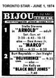 "AD FOR ""ARNOLD & DELIVERANCE"" - BIJOU CINEMAS"