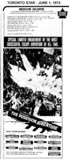 """AD FOR """"POSEIDON ADVENTURE"""" TOWNE & COUNTRYE AND OTHER THEATRES"""