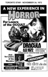 "AD FOR ""DRACULA A.D. 1972 & CRESCENDO"" - CAPRI AND OTHER THEATRES"