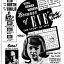 "AD FOR ""BECAUSE OF EVE"" TWIN DRIVE-IN  AND CENTRE THEATRE"