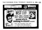 "AD FOR ""GUESS WHO'S COMING TO DINNER"" - VANITY THEATRE"