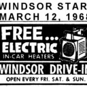 "AD FOR ""FREE HEATER"" AT WINDSOR DRIVE-IN THEATRE"