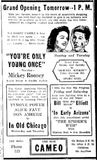 February 26th, 1939 grand opening ad