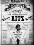 October 21st, 1928 Grand opening ad