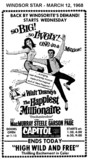 "AD FOR ""THE HAPPIEST MILLIONAIRE"" - CAPITOL THEATRE"