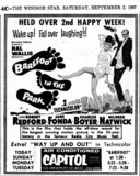 "AD FOR ""BAREFOOT IN THE PARK"" - CAPITOL THEATRE"