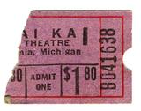 $1.80 ticket stub from the Mai Kai Teatre