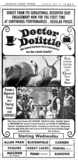 "AD FOR ""DOCTOR DOLITTLE"" - HURON & OTHER THEATRES"