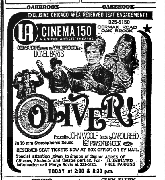OLIVER! with Mark Lester, Shani Wallis and Oliver Reed