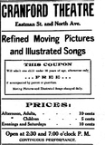 Cranford Theatre Ad, July 8, 1909