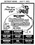 "AD FOR ""BEDKNOBS AND BROOMSTICKS"" - DEARBORN AND OTHER DRIVE-IN THEATRES"