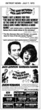 """AD FOR """"THE WAR BETWEEN MEN AND WOMEN"""" CALVIN & OTHER THEATRES"""