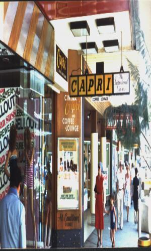 Entrance to the Capri Cinema