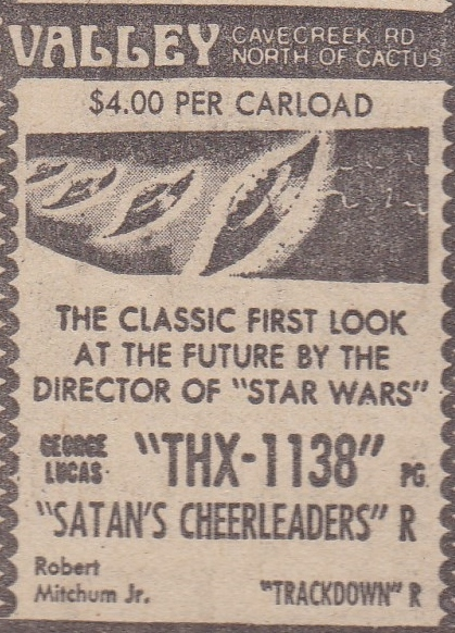 Valley Drive In - Newpaper ad from 1978