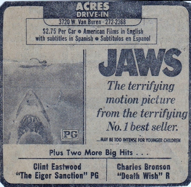 MEGA-BLOCKBUSTER - Jaws at the Acres Drive In in 1976