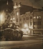 The Capitol Theatre (left) and the Embassy Ballroom (right) at night, c.1940
