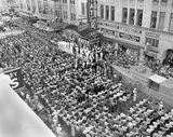 <p>Picture courtesy of Facebook.</p>                            <p>One thousand Houston men are sworn in as servicemen during a Memorial Day rally to replace the crew of the USS Houston, which had sunk during the Battle of Sunda Strait just a few months earlier. Bayou City residents also helped raise $85 million in war bonds, enough to both replace the Houston and construct a new aircraft carrier, the San Jacinto, 1942.</p>
