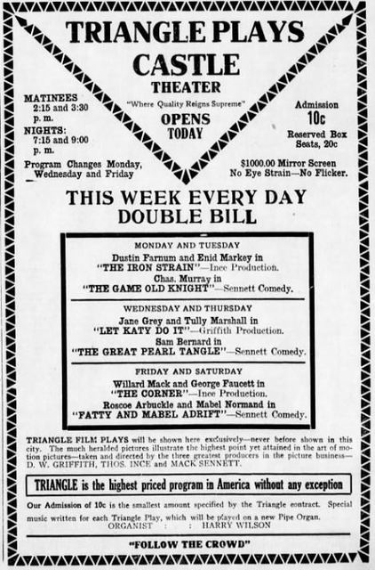January 24th, 1916 grand opening ad