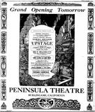 October 12th, 1926 grand opening ad