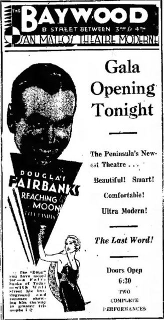 August 20, 1931 grand opening ad