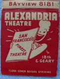Old Alexandria Matchbook - Front Cover