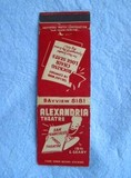 Old Alexanria Theater Matchbook