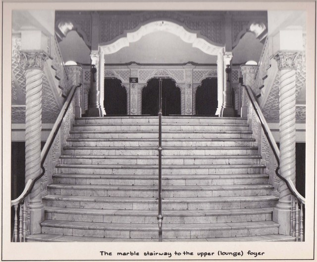 Marble staircase, Perth's Ambassadors, March 1969