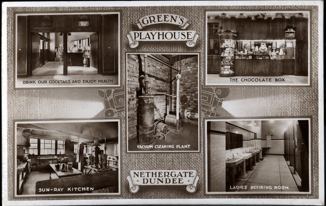 Green's Playhouse Postcard