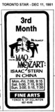 "AD FOR ""FROM MAO TO MOZART"" - FINE ARTS THEATRE"