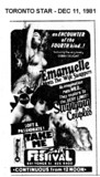 "AD FOR ""EMANUELLE MEETS THE WIFE SWAPPER & TAKE ME"" - FESTIVAL THEATRE"