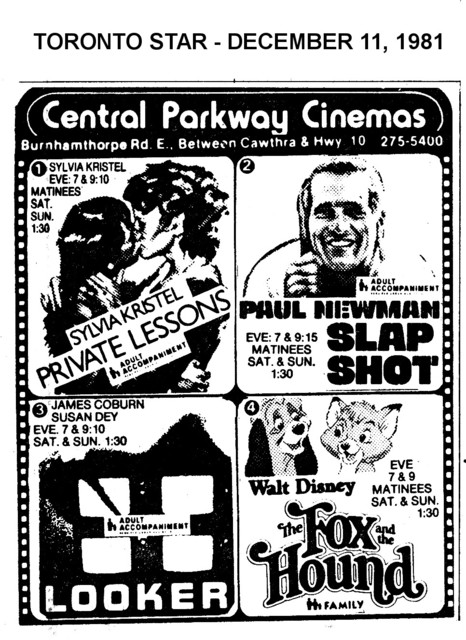 AD FOR CENTRAL PARKWAY CINEMAS