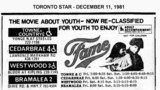 """AD FOR """"FAME"""" - TOWNE & COUNTRYE AND OTHER THEATRES"""