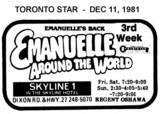 "AD FOR ""EMANUELLE AROUND THE WORLD"" - SKYLINE THEATRE"