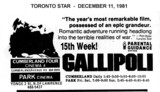 "AD FOR ""GALLIPOLI"" -  PARK CINEMA &  CUMBERLAND 4 CINEMA"