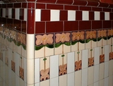 Stalls decorative tiling