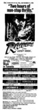 """AD FOR """"RAIDERS OF THE LOST ARK"""" - SHERIDAN & OTHER THEATRES"""