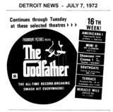 "AD FOR ""THE GODFATHER"" AMERICANA & OTHER THEATRES"