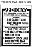 "AD FOR ""PAT GARRETT & BILLY THE KID"" ROXY THEATRE"