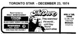 """AD FOR """"THE DOVE"""" - TOWNE AND BRAMALEA THEATRES"""