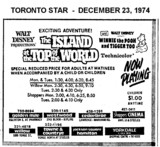 "AD FOR ""THE ISLAND AT THE TOP OF THE WORLD"" -  CEDARBRAE & OTHER THEATRES"