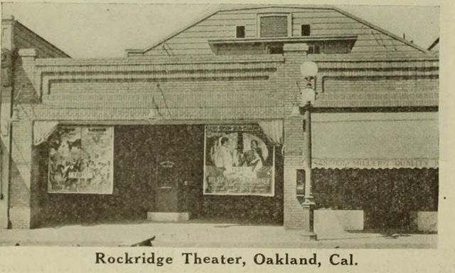 A 1917 photo of the Rockridge