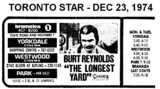 "AD FOR ""THE LONGEST YARD"" YORKDALE & OTHER THEATRES"