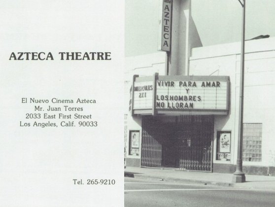 Azteca Theatre (formerly the Meralta)