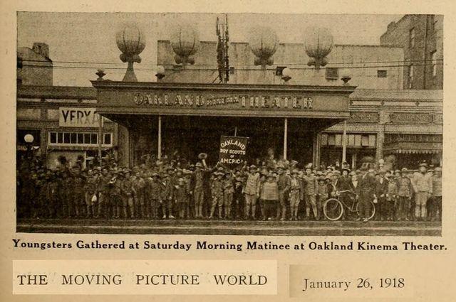 A 1918 photo of the Kinema