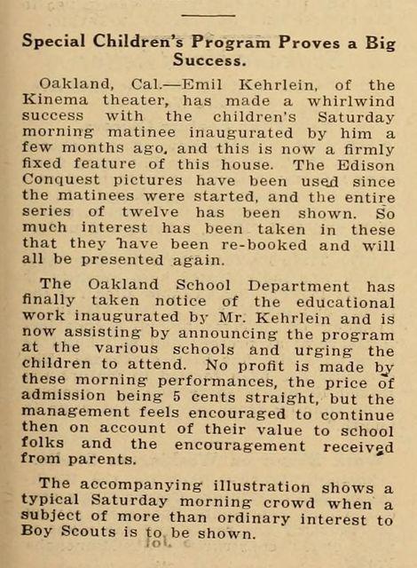 1918 article on the Kinema