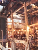 Inside the gutted Meadows during1999 reconstruction