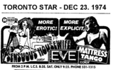 """AD FOR """"SENSUOUS HOUSEWIFE & MATTRESS TANGO"""" - EVE THEATRE"""