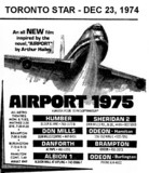 "AD FOR ""AIRPORT 1975"" - HUMBER & OTHER THEATRES"