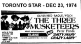 "AD FOR ""THE THREE MUSKETEERS"" - ELANE THEATRE"